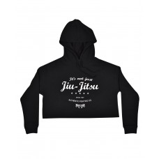 It's Not Just Jiu-Jitsu Crop Hoodie -  Black